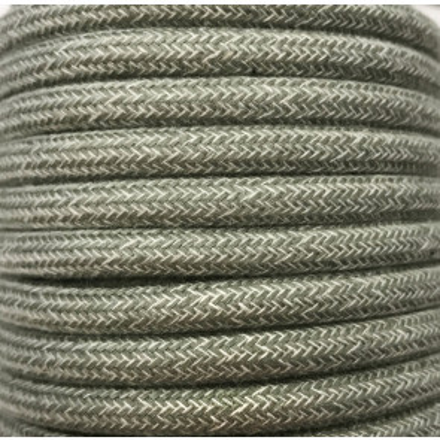 Tira 5 metros cable decorativo textil verde oscuro algodón batido (CIR62BA01)