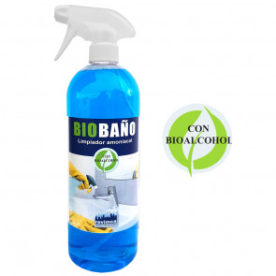 Limpiador amoniacal con Bioalcohol para baños 1L Biobaño (Revimca RH1308)