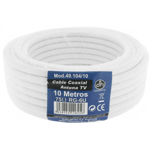 10m. rollo de cable coaxial TV (DH 49104/10)