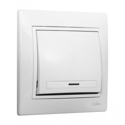 Conmutador / Interruptor blanco serie Europa Solera (ERP02U)
