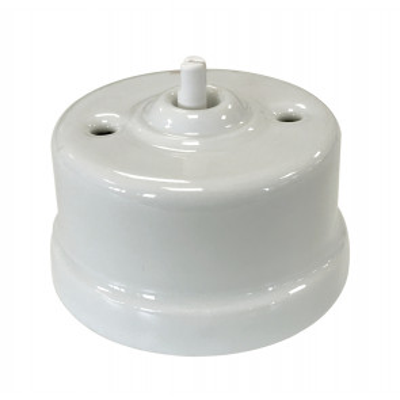 Interruptor de porcelana blanco sin lazo Garby (Fontini 30 306 17 1)