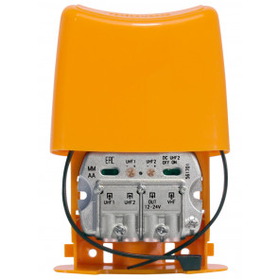 Amplificador de mástil NanoKom UHF-UHF-VHFmix (LTE790, 1er Dividendo Digital) (Televes 561701)