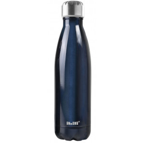 Botella termo de pared doble sin BPA azul 500 ml. (Ibili 758450 B)