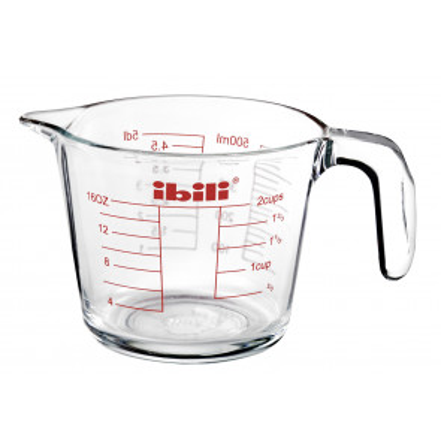 Jarra de cristal para mediciones 500 ml. (Ibili 481105)