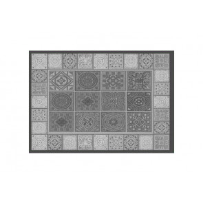 Alfombra vinílica Hidraulik mosaico gris 04 50x70cm.