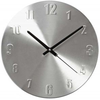 Reloj de pared de aluminio ø30cm (Nedis CLWA009MT30)