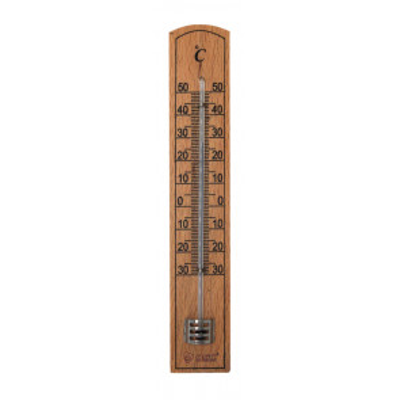 Termómetro analógico madera interior y exterior Celsius (GSC 502065002)
