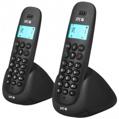 Teléfonos Art duo negros (SPC 7312N)