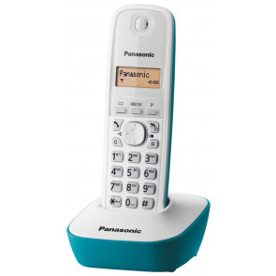Teléfono inalámbrico blanco (Panasonic KXTG1611B)