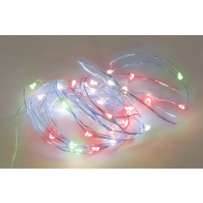5m. guirnalda de alambre luz multicolor 3xAA 8 funciones IP44 (GSC 5204412)