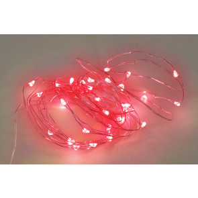 2m. guirnalda de alambre luz roja 2xAA GSC (5204403)