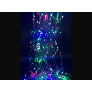 2m. cascada luminosa multicolor con cable plata de 200 Leds 5V IP44 (F-bright 00234-M)