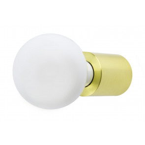 Aplique Ten de aluminio oro satinado E27 ø60mm. (Faro 62153)