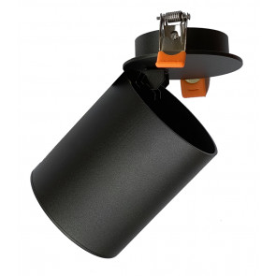 Aro empotrable orientable negro GU10 ø82x128mm. (F-Bright 2807490-N)