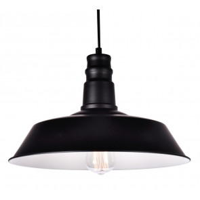 Lámpara colgante industrial de metal negra modelo Line E27 Ø360mm (GSC 0705245)