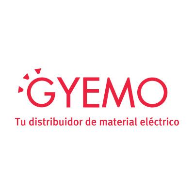 Lámapara de pie negra de metal y madera modelo Delza E27 (Fabrilamp 109440109)