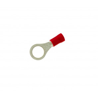 100 uds. terminal preaislado redondo rojo ø4,3 mm. (Copain TR104)