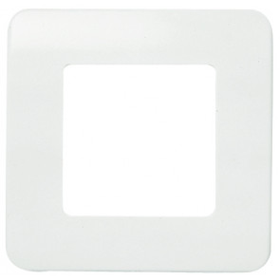Placa  1 ventana 2 elementos monocaja sin tornillos blanco 80x80mm. (Niessen Stylo 2271.2 BA)