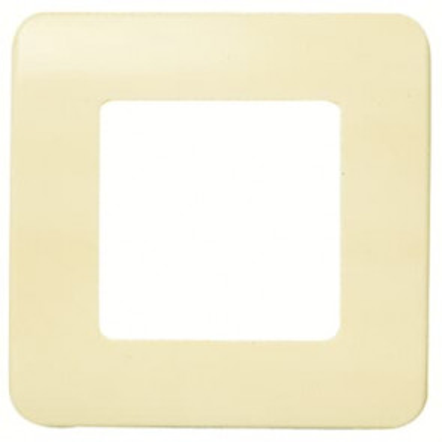 Placa  1 ventana 2 elementos monocaja sin tornillos marfil 80x80mm. (Niessen Stylo 2271.2 BM)