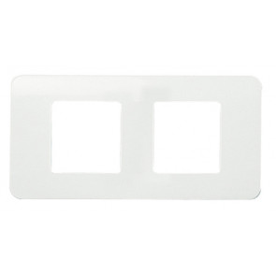 Placa horizontal de tres ventanas sin tornillos marfil sin garras (Niessen Stylo 2273.1 BM)