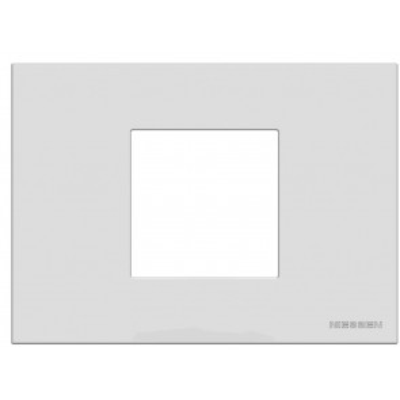 Marco monocaja 2 elementos blanco 85x117mm. (Niessen Zenit Zenit N2472 BL)