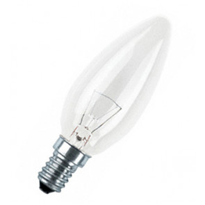 Lámpara incandescente vela lisa E14 60W (General Electric 90583) (Blíster 2 uds)