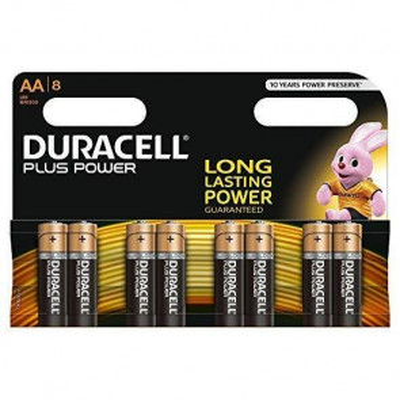 Pila Duracell Plus Power Alcalina 1,5V LR06-AA (Blíster 8ud)