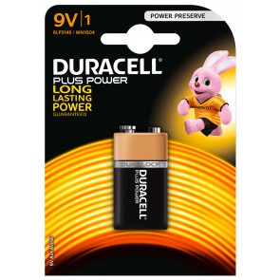 Pila Duracell Plus Alcalina 9V 6LR61-9V (Blíster 1 ud)
