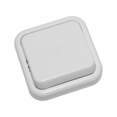 Interruptor blanco serie Kristal (Fontini 20-306-05-2)