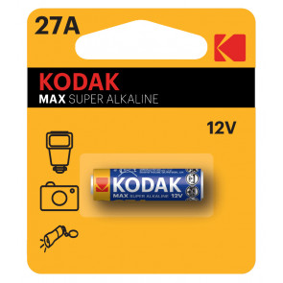 1 ud. pila para mandos y cámaras Kodak Max Super Alkaline12V 27A (Blíster)