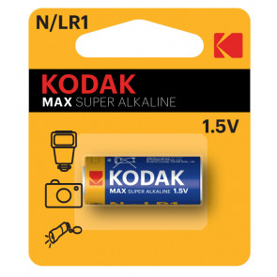 1 ud. pila para mandos y cámaras Kodak Max Super Alkaline 1,5V N/LR1 (Blíster)