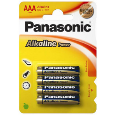 4 uds. pilas Panasonic Alkaline Power 1,5V LR03-AAA (Blíster)
