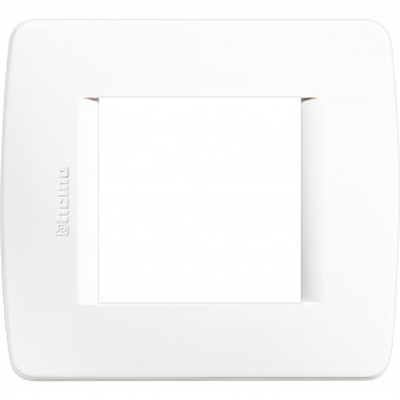 Placa para caja universal 2 elementos blanco (Bticino Luna C4802BN)