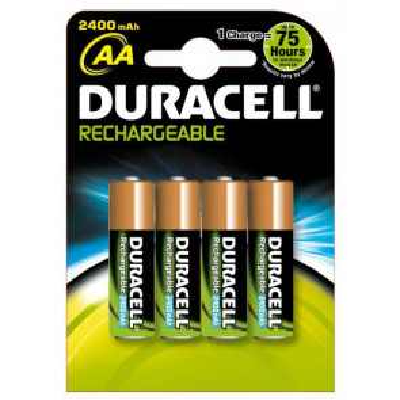 4 uds. pilas recargables Duracell HR06-AA 2400 mAh (Blíster)