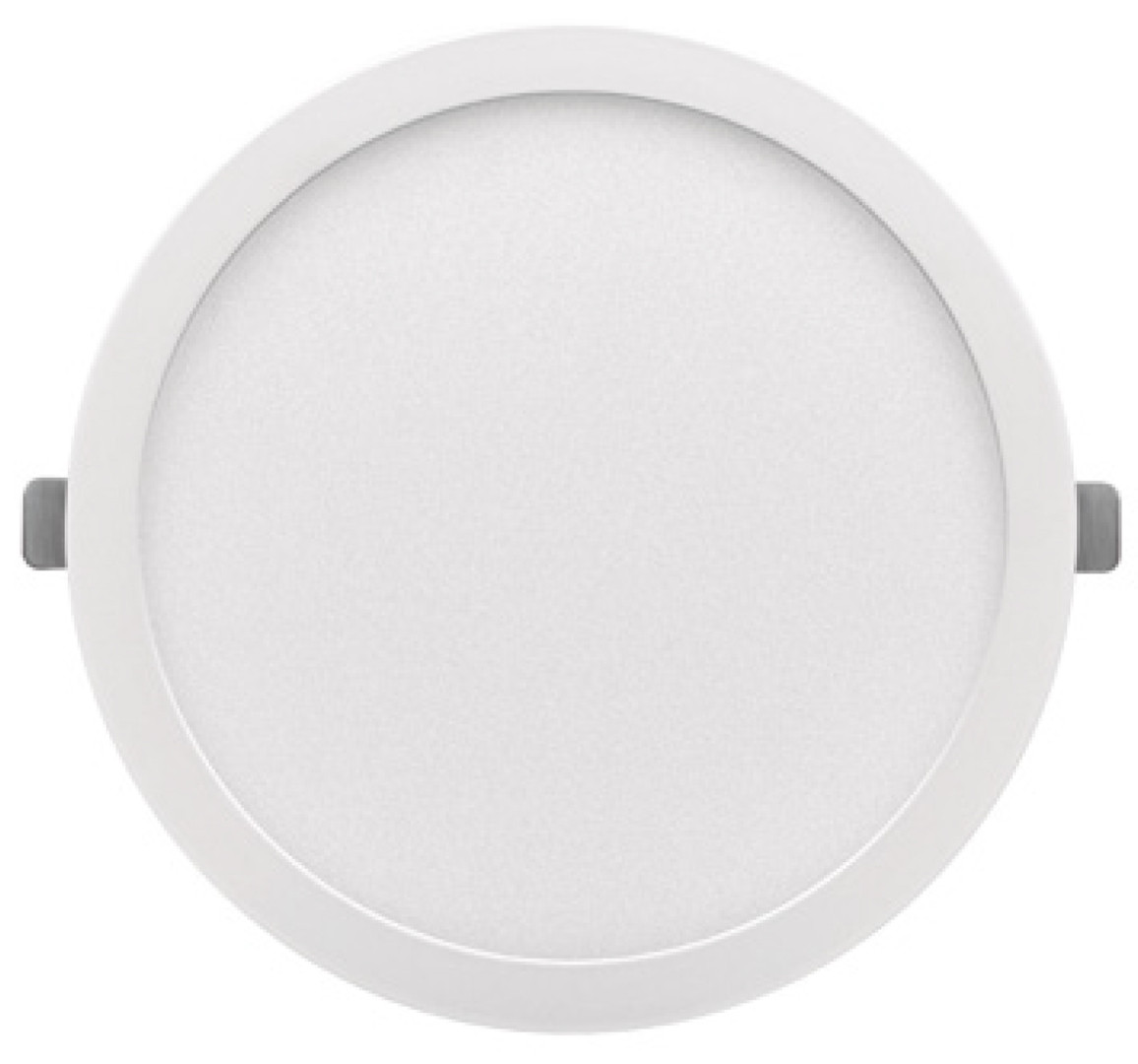 Downlight Led redondo empotrable o superficie Monet blanco 18W 6000°K 215x13mm. (ALG 67652)