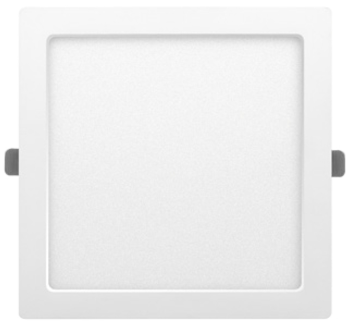 Downlight Led cuadrado empotrable o superficie Monet blanco 24W 6000°K 291x291mm. (ALG 67658)