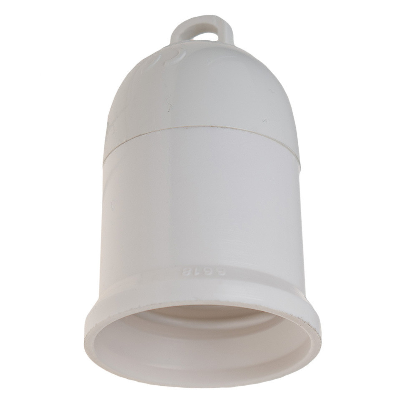 Portalámparas E27 blanco para luz provisional de obras (Solera 6618)