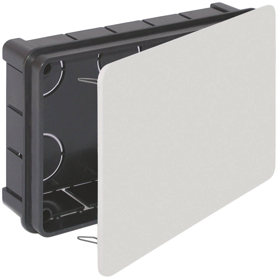 Caja de empalme y derivaci�n de empotrar con tapa y garra met�lica 200x130x60mm. (Solera 614)