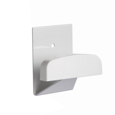 Percha adhesiva grande blanca de acero y pl�stico adhesiva o tornillos 40x50mm. (K�ppels P3003I) (Bl�ster)