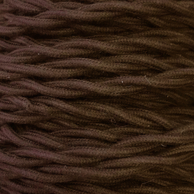 Bobina 50m. cable textil decorativo trenzado algod�n marr�n 2x1,5mm.(Cord�n D'or TRECCIA 2X1.5 MARRON)