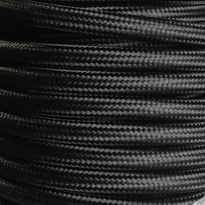 Tira 5 metros cable textil decorativo negro liso mate (CIR62CM13)
