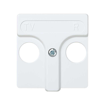 Placa para tomas inductivas de R-TV blanca (Simon 27 27053-34)