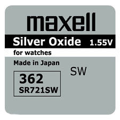 1 ud. pila de botón Maxell 362 SR721SW 1,55V (Blíster)
