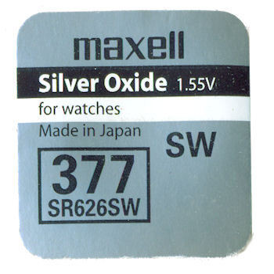 1 ud. pila de botón Maxell 377 SR626SW 1,55V (Blíster)